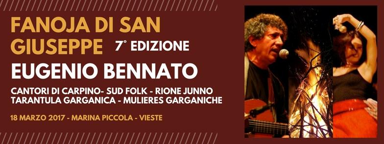 Eugenio Bennato a Vieste per la Fanoja