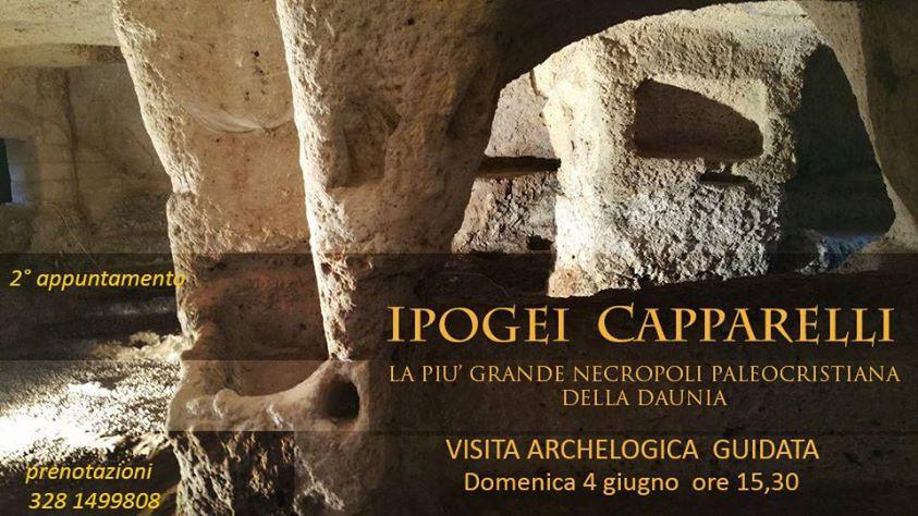 II^ VISITA ARCHEOLOGICA GUIDATA AGLI IPOGEI CAPPARELLI di SIPONTO