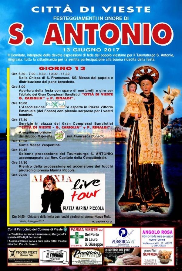Festa di Sant'Antonio - Programma 2017